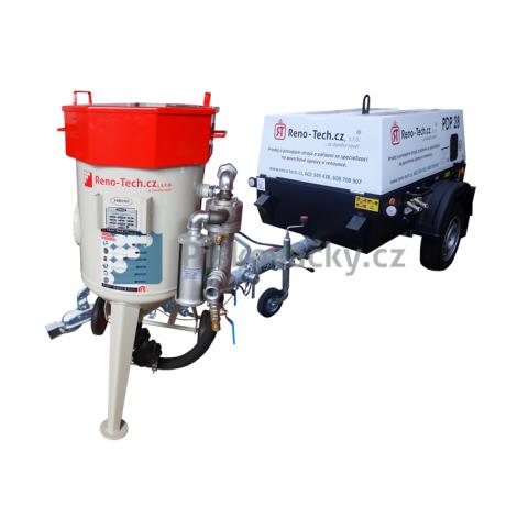 Balíček-Soubor zařízení: Mobilní pískovačka+vlečný/mobilní dieselový kompresor