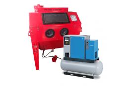 Balíček - Soubor zařízení: Kabinová pískovačka + El. šroub. kompresor