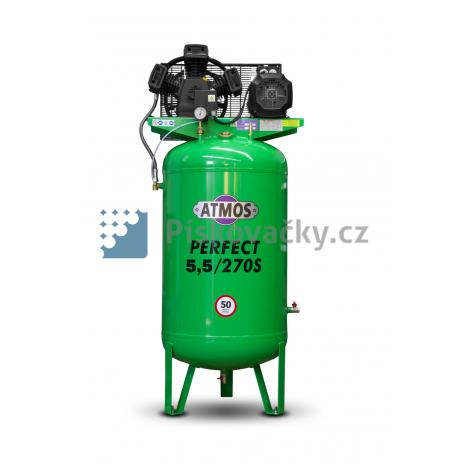 Elektrický, pístový, průmyslový kompresor ATMOS-Perfect 5,5 / 270 S