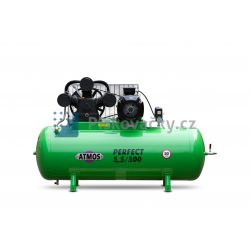 Elektrický, pístový, průmyslový kompresor ATMOS-Perfect 5,5 / 500 M