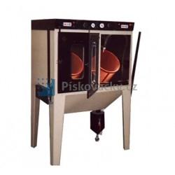 Pískovací dvou-bubnové kombinované kabiny ITB/TTB2 (injektor+tlak) pro hromadné tryskání drobných dílů