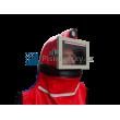 Ochranná helma tryskání GRANIT s rovným hledím a s integrovaným accu LED osvětlením - Skořepina