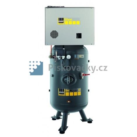 Elektrický, pístový-průmyslový kompresor Schneider, s agregátem v anti-hlukové skříni