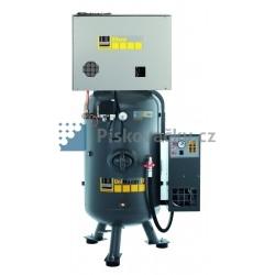 Elektrický, pístový, průmyslový kompresor Schneider, 10bar, s agregátem v anti-hlukové skříni + integrovaná sušička vzduchu