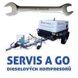 Servis a generální opravy dieselových, šroubových kompresorů všech značek