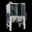 Pískovací dvou-bubnové kombinované kabiny PK-ITB/TTB2 (injektor+tlak) pro hromadné tryskání drobných dílů