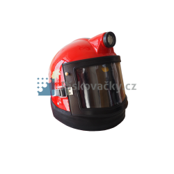 Ochranná helma tryskání Vega  s LED svícením - skořepina / detail