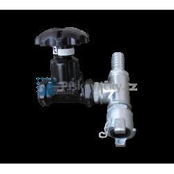 """Směšovač abraziva SA 1 1/4"""" (5/4"""") - komplet, včetně dolního potrubí (armatury)"""