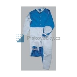 Ochranná textil-kožená kombinéza tryskání